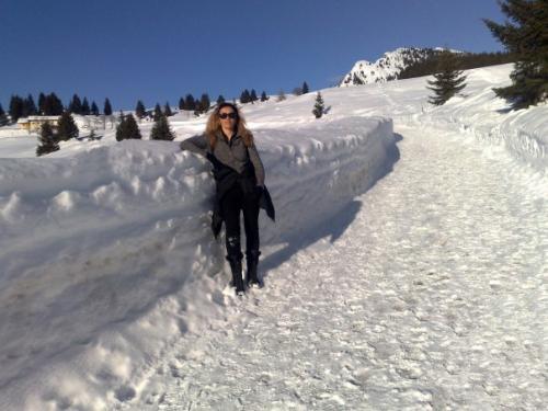 silvia ferretto sulla neve 1